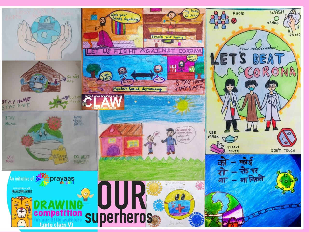 Result of Coronavirus Awareness Poster Drawing Competition